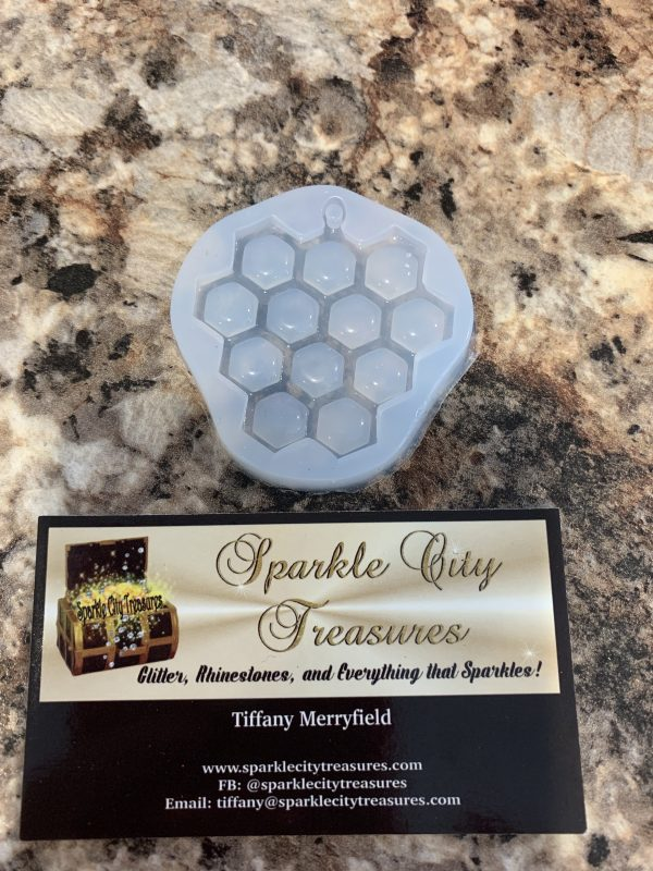 Honeycomb Keychain Epoxy Mold