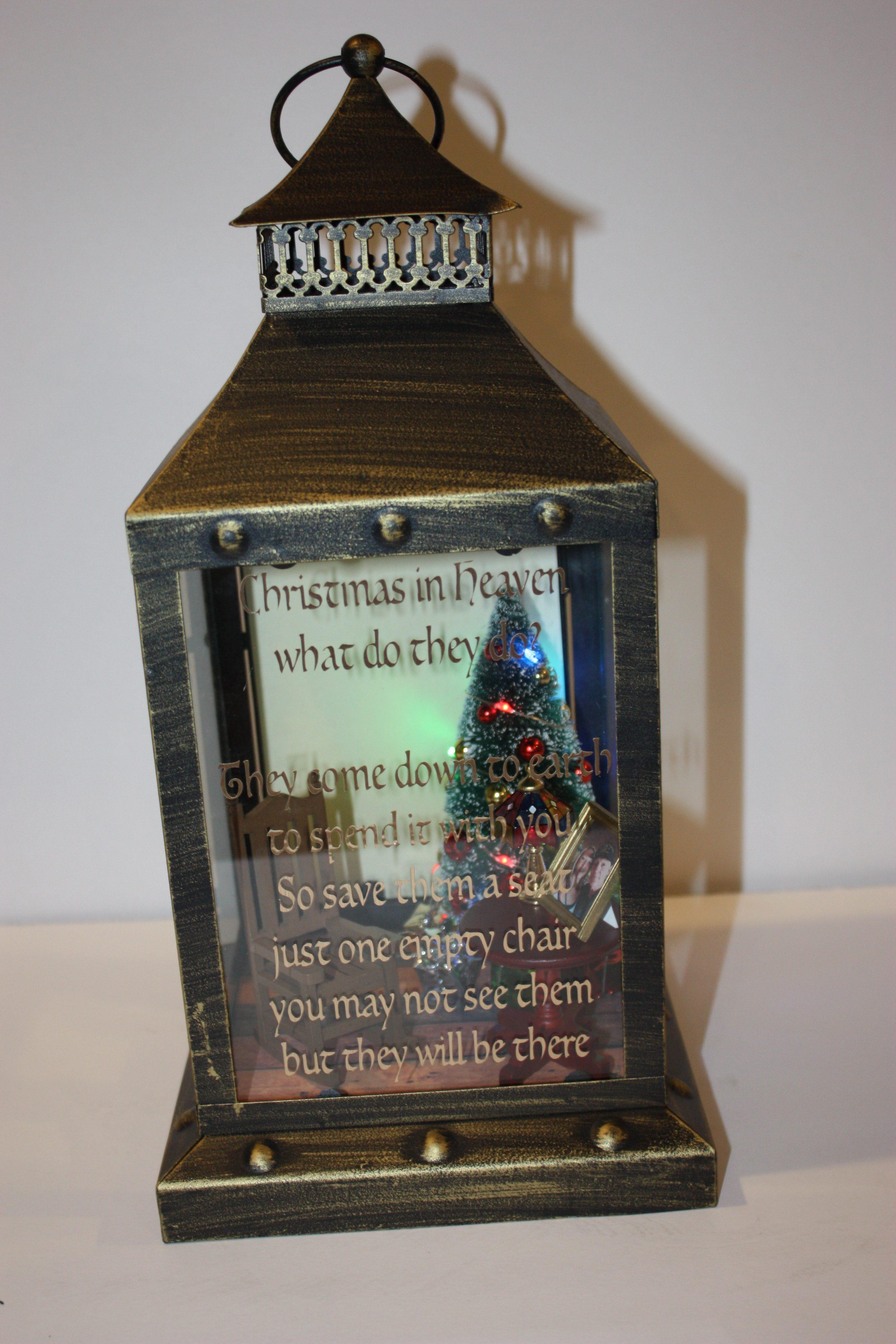Christmas In Heaven Lantern.Christmas Memory Lantern